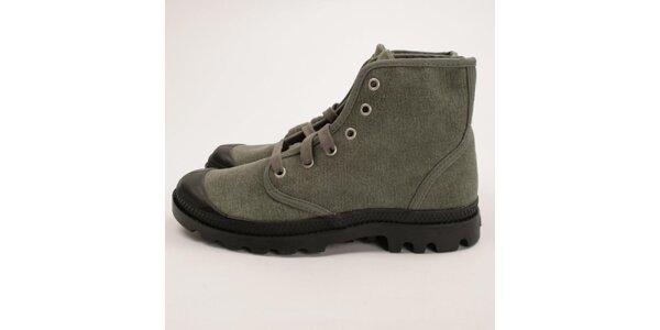 Pánske šedé plátené topánky Palladium