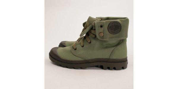 Pánske zelené vyhrňovacie topánky Palladium