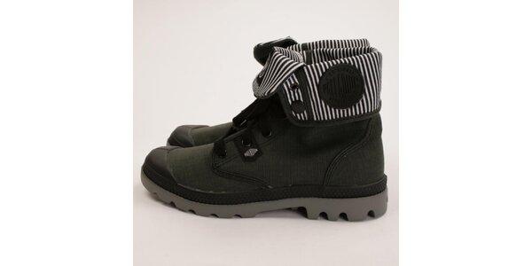 Dámske zelené členkové topánky Palladium
