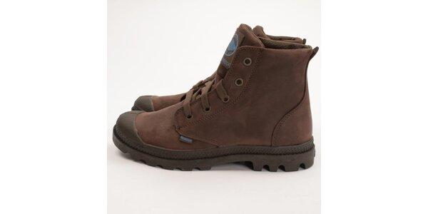Dámske čokoládovo hnedé topánky Palladium