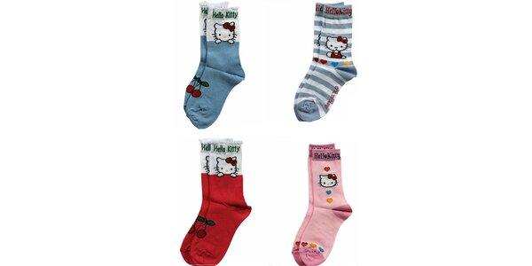 Detské ponožky Hello Kitty 4 ks