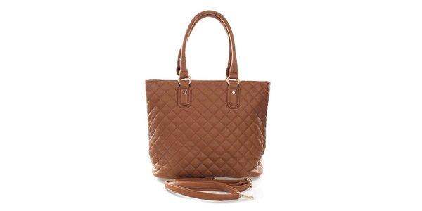 Dámska svetlo hnedá kabelka s odnímateľným ramenným popruhom London Fashion