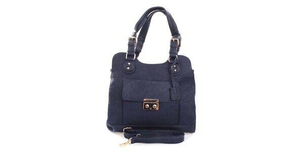 Dámska modrá kabelka s odnímateľným popruhom London Fashion