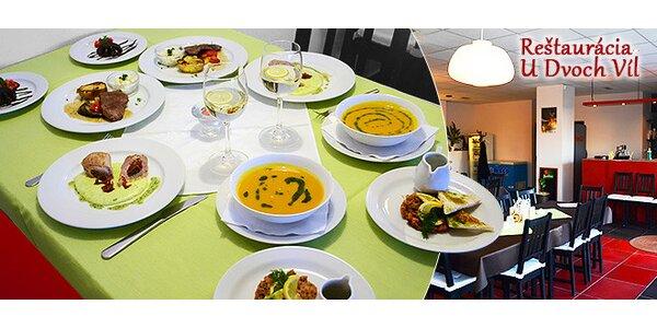 5 chodové degustačné menu pre 2 osoby
