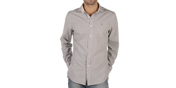 Pánska bielo prúžkovaná košeľa Replay