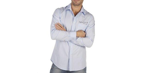 Pánska svetlo modrá košeľa Replay