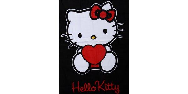 Detská čierna osuška Hello Kitty