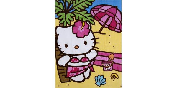 Detská plážová osuška Hello Kitty