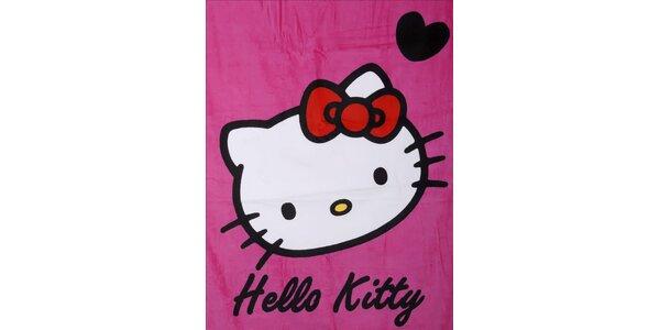 Detská ružová osuška Hello Kitty