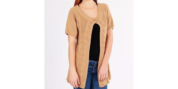 Dámsky béžový pletený sveter Emma Pernelle