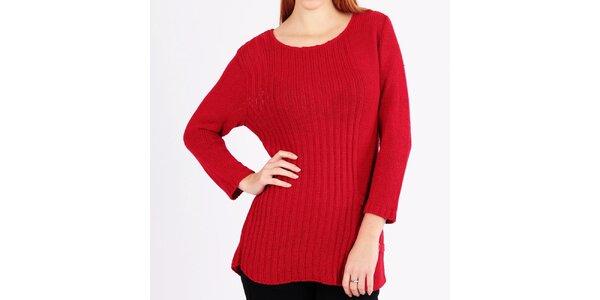 Dámsky pletený červený sveter Emma Pernelle
