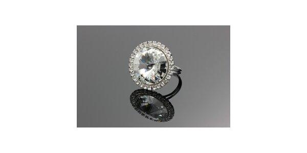 Dámsky prsteň s kryštálom Swarovski