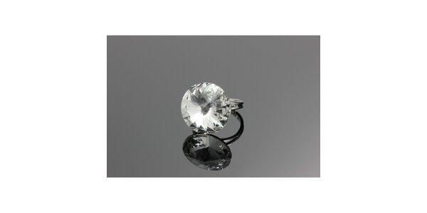 Dámsky prsteň s guľatým kryštálom Swarovski