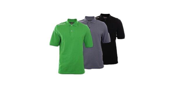Set troch pánskych polo tričiek Kappa - čierne, šedé a zelené