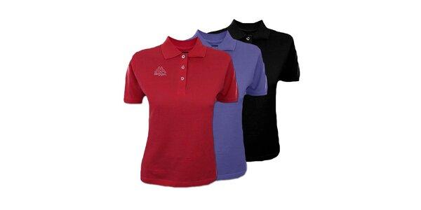 Set troch dámskych polo tričiek Kappa - čierne, modré, červené