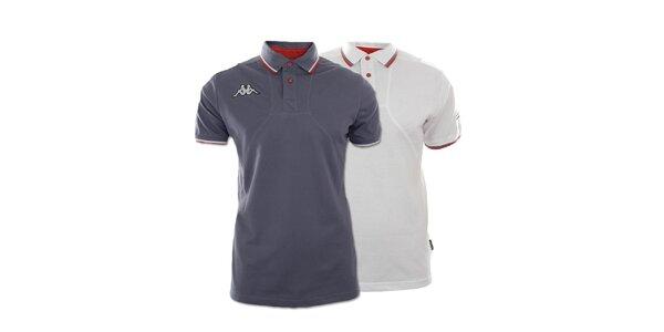 Set dvoch pánskych polo tričiek Kappa - šedé, biele