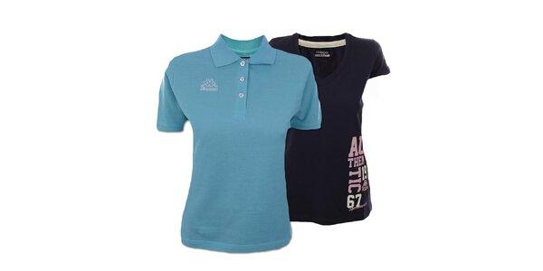 Set dvoch dámskych modrých tričiek Kappa