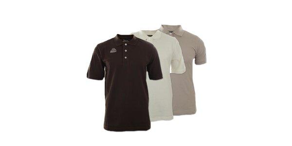 Set troch pánskych polo tričiek Kappa - béžové, smotanové, hnedé