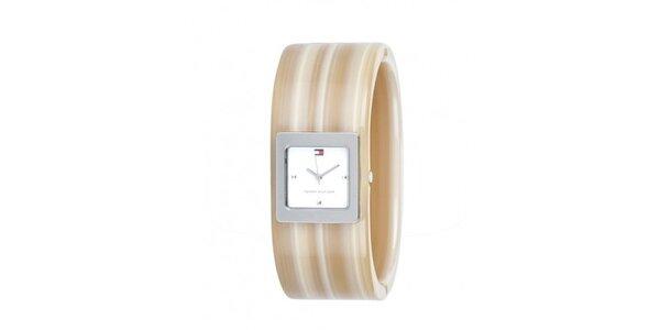 Dámske béžové náramkové hodinky Tommy Hilfiger