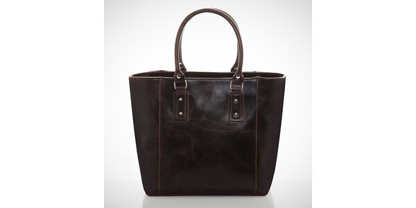 Dámska jemno žíhaná tmavo hnedá kabelka Felice