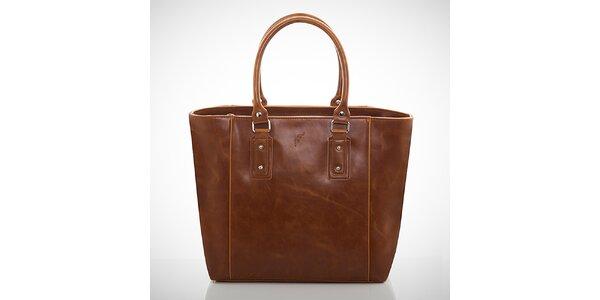Dámska jemno žíhaná hnedá kabelka Felice