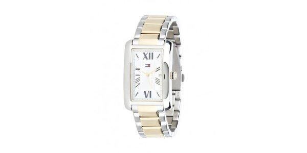Pánske zlato-strieborné hodinky Tommy Hilfiger