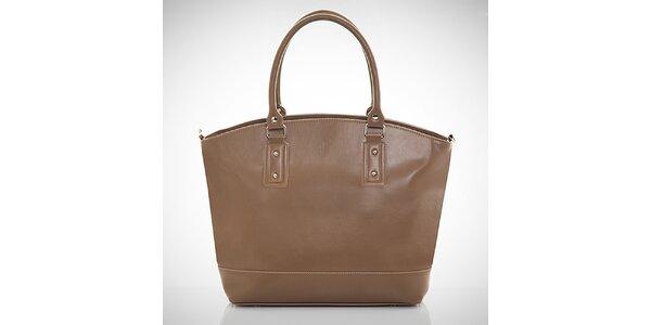 Dámska svetlo hnedá kabelka s vonkajším vreckom Felice