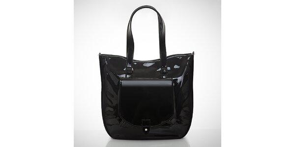 Dámska lakovaná čierna kabelka Felice