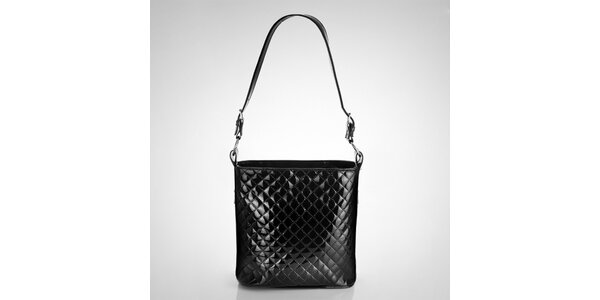 Dámska čierna prešívaná kabelka Felice