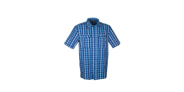 Pánska modrá kockovaná košeľa Envy