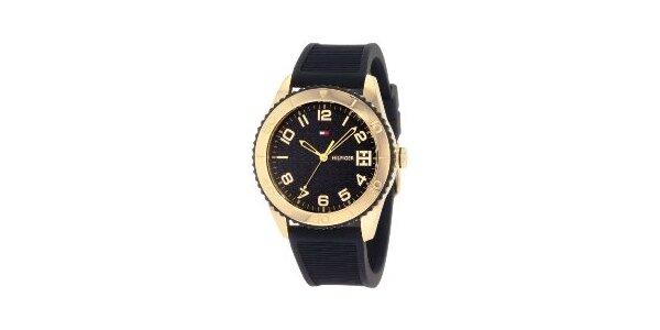 Dámske zlato-čierne náramkové hodinky Tommy Hilfiger