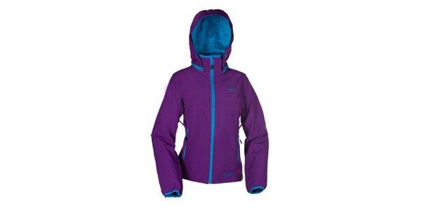 Dámska fialová bunda Envy s tyrkysovými detailmi