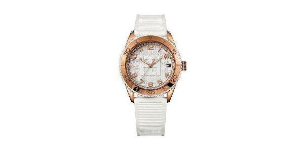 Dámske zlato-biele náramkové hodinky Tommy Hilfiger