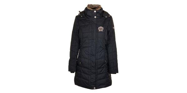 Dámsky čierny prešívaný kabát Northland