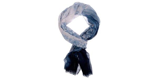 Dámska modro-biela šatka Invuu London