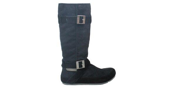 Dámske čierne čižmy s prackami Cubanas Shoes