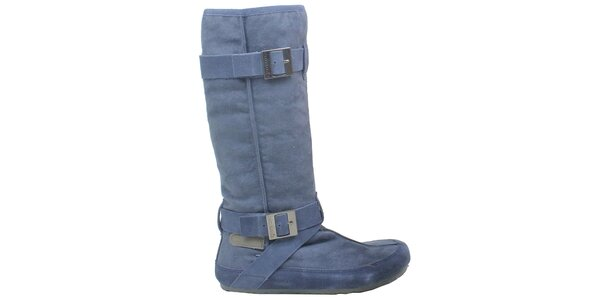 Dámske modré čižmy s prackami Cubanas Shoes