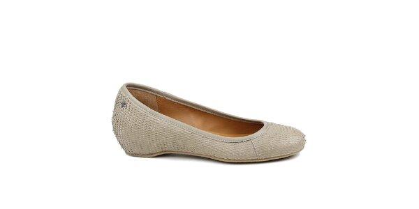 Dámske šedé baleríny Cubanas Shoes