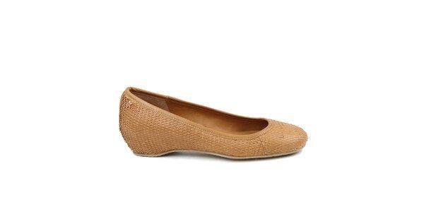 Dámske béžové baleríny Cubanas Shoes