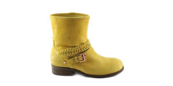 Dámske žlté členkové topánky Cubanas Shoes