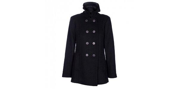 Dámsky tmavo zelený zimný kabát Pietro Filipi