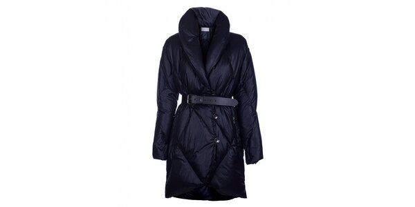 Dámsky temno modrý páperový kabát Pietro Filipi
