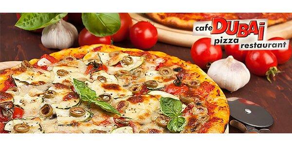 Chrumkavá PIZZA v reštaurácií DUBAI
