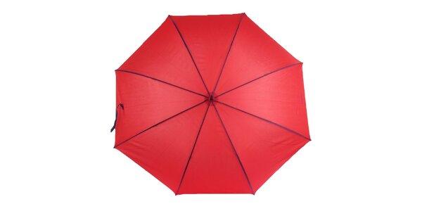Dámsky červený dáždnik s fialovými lemami Ferré Milano