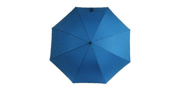 Dámsky modrý dáždnik s čiernou rukoväťou Ferré Milano