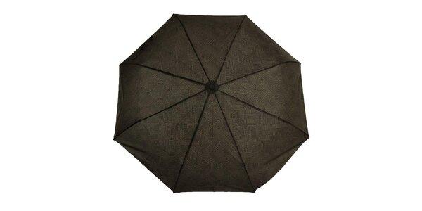 Pánsky skladací dáždnik s čiernym logom Ferré Milano
