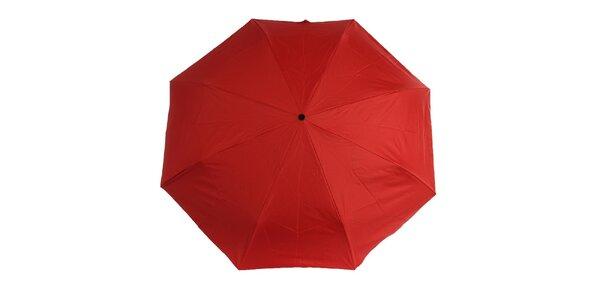 Dámsky červeno-čierny skladací dáždnik Ferré Milano
