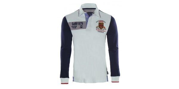 Pánske modrobiele polo tričko Giorgio di Mare