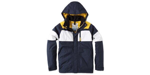 Pánska modro-bielo-žltá bunda s kapucňou Brunotti