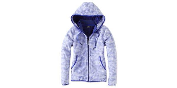 Dámska modro-bielo kockovaná fleecová bunda Brunotti